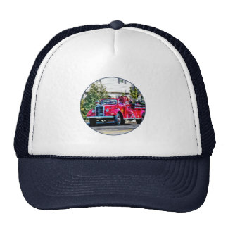 Old Fashioned Fire Truck Mesh Hat