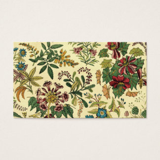 Old Fashioned Floral Abundance Business Card