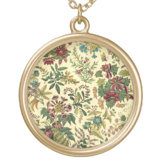 Old Fashioned Floral Abundance Gold Plated Necklace