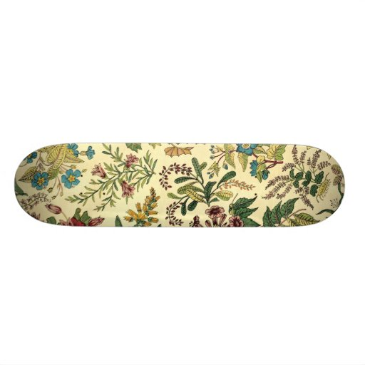 Old Fashioned Floral Abundance Skateboard