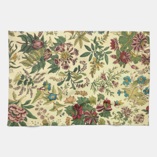 Old Fashioned Floral Abundance Tea Towel