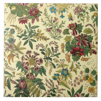 Old Fashioned Floral Abundance Tile