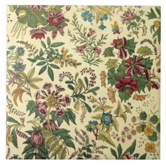 Old Fashioned Floral Abundance Ceramic Tiles
