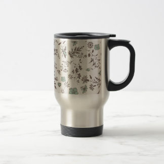 old fashioned Flowers Background Coffee Mugs