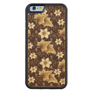 Old-Fashioned Flowers Carved® Maple iPhone 6 Bumper Case
