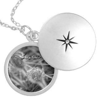 Old Fashioned Flowers; Customizable Round Locket Necklace