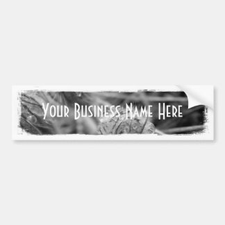 Old Fashioned Flowers; Promotional Car Bumper Sticker