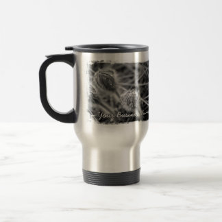 Old Fashioned Flowers; Promotional Stainless Steel Travel Mug