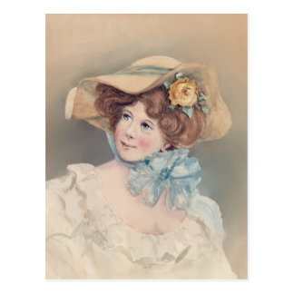 OLD FASHIONED GIRL by SHARON SHARPE Post Card