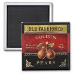 Old Fashioned Golden Pears Vintage Magnet