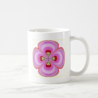 Old Fashioned -  GoodLuck Floral Print Basic White Mug