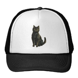 Old Fashioned Halloween Black Cat Cap