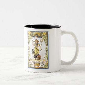 Old Fashioned Halloween Fortune Teller Two-Tone Mug