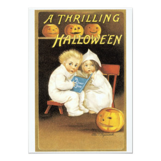 Old Fashioned Halloween Ghost Story Kids Card