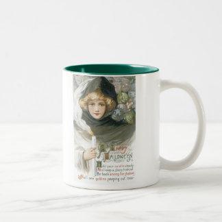Old Fashioned Halloween Goblin Tale Two-Tone Mug