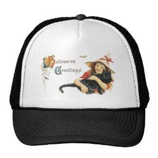 Old Fashioned Halloween Greetings Trucker Hat