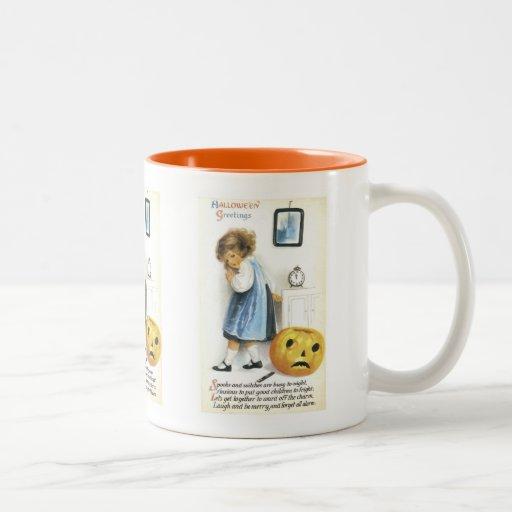 Old Fashioned Hallowe'en Greetings Coffee Mugs