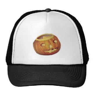 Old Fashioned Halloween Jack-O-Lantern Trucker Hats