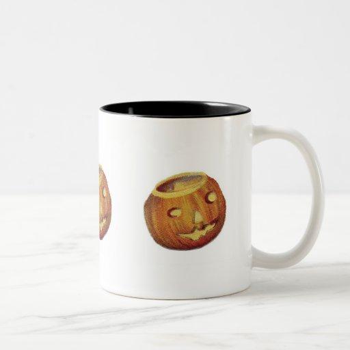 Old Fashioned Halloween Jack-O-Lantern Coffee Mugs