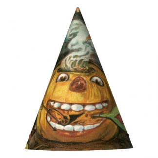 Old-fashioned Halloween, Pumpkin & Devils Party Hat