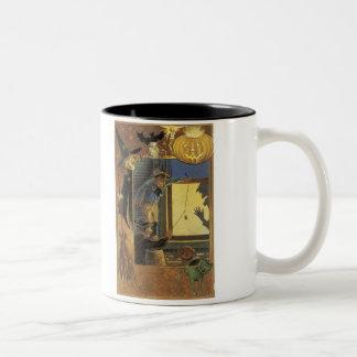 Old Fashioned Halloween Silhouette Two-Tone Mug