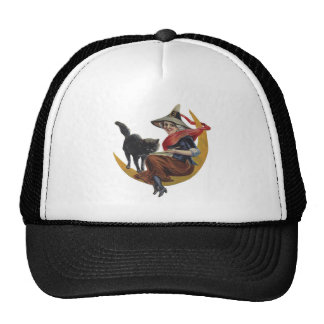 Old Fashioned Halloween Witch Trucker Hat