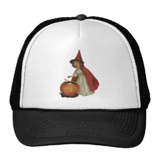 Old Fashioned Halloween Witch Girl Mesh Hat