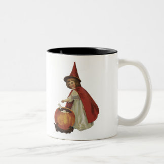 Old Fashioned Halloween Witch Girl Coffee Mugs
