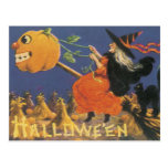 Old Fashioned Halloween Witch Postcard