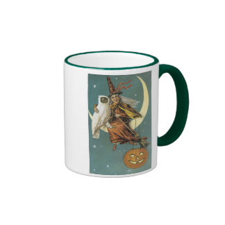 Old Fashioned Halloween Witch The Moon Mug