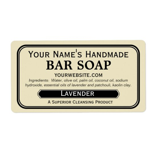 Old Fashioned Handmade Soap Labels for Soapmaking