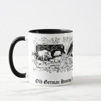 Old Fashioned Hunter's Mug with Deer & Boar