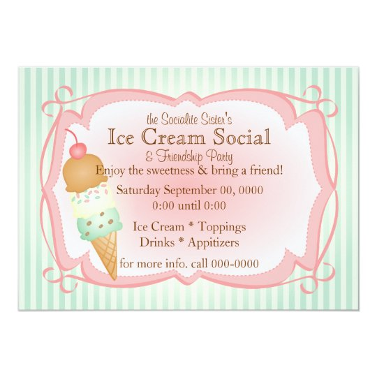 Old Fashioned Ice Cream Social! Card