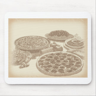 Old Fashioned Italian Food Mouse Pad