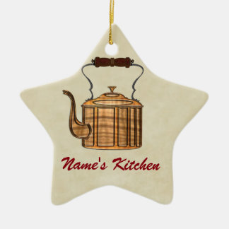 Old Fashioned Kitchen Copper Kettle STAR Christmas Ornament