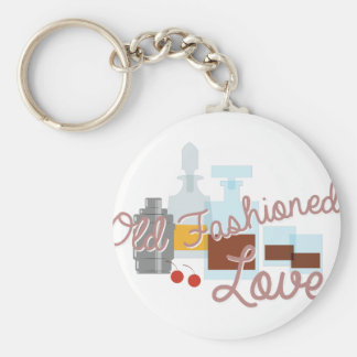 Old Fashioned Love Basic Round Button Key Ring