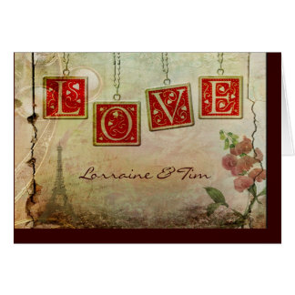 Old fashioned love card