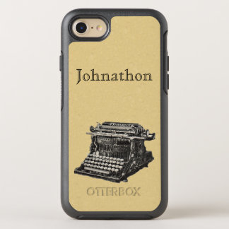 Old fashioned Manual Typewriter in Black White OtterBox Symmetry iPhone 8/7 Case
