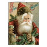 Old Fashioned Merry Christmas Santa Claus Greeting Cards