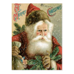 Old Fashioned Merry Christmas Santa Claus Postcards