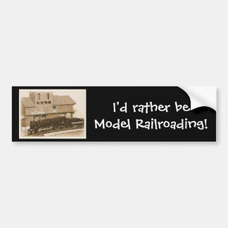 Old Fashioned Model Train Photo Bumper Sticker