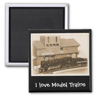 Old Fashioned Model Train Photo Square Magnet
