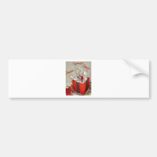 Old Fashioned Peppermint Bark Candy Bumper Sticker