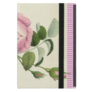 Old Fashioned Pink Rose Linen Gingham Decorative iPad Mini Case
