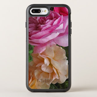 Old Fashioned Pink Roses Garden Flowers OtterBox Symmetry iPhone 8 Plus/7 Plus Case