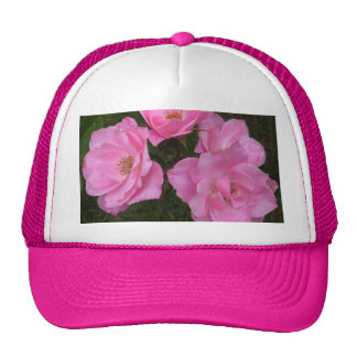 Old Fashioned Pink Roses Trucker Hat