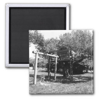 Old Fashioned Playground Square Magnet