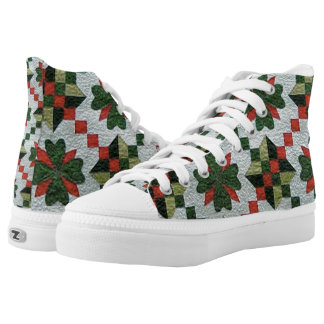Old Fashioned Quilted High-Top Tennis Shoes