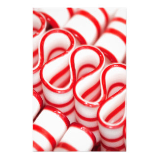 Old Fashioned Red and White Ribbon Candy Stationery