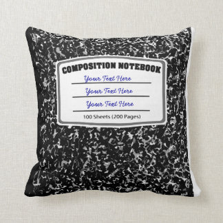 Old Fashioned Retro Composition Notebook Cushion